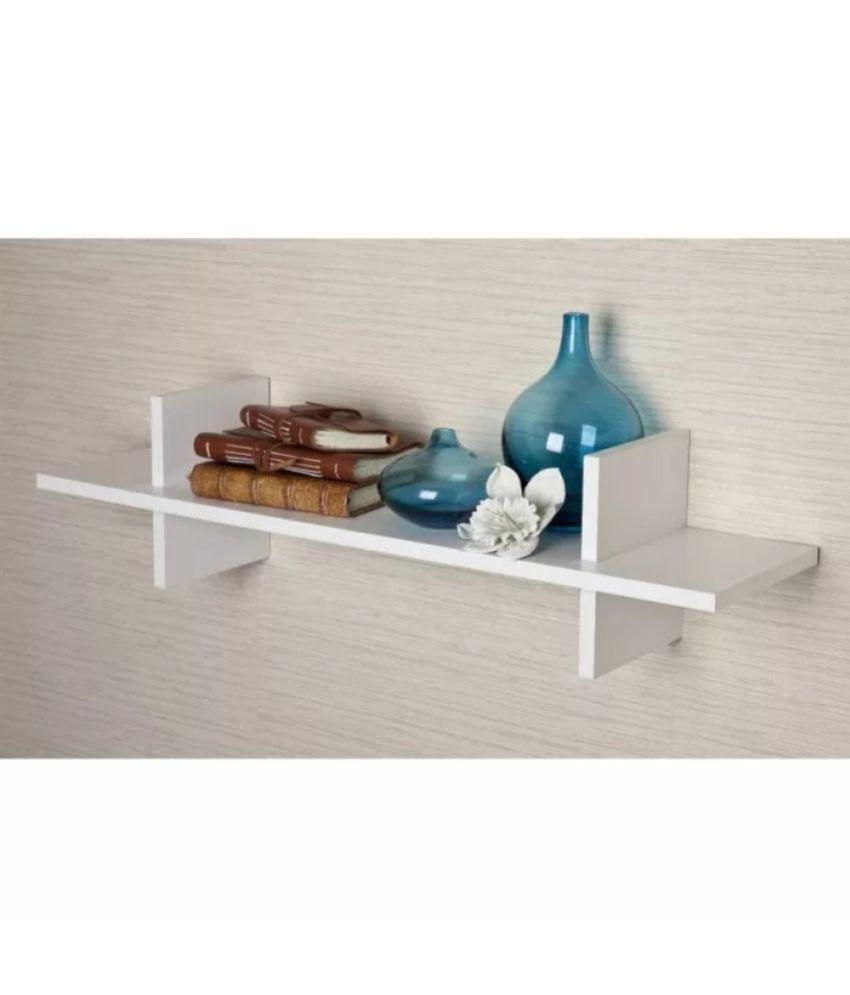 Onlineshoppee Floating Shelf/ Wall Shelf / Storage Shelf/ Decoration Shelf White - Pack of 1