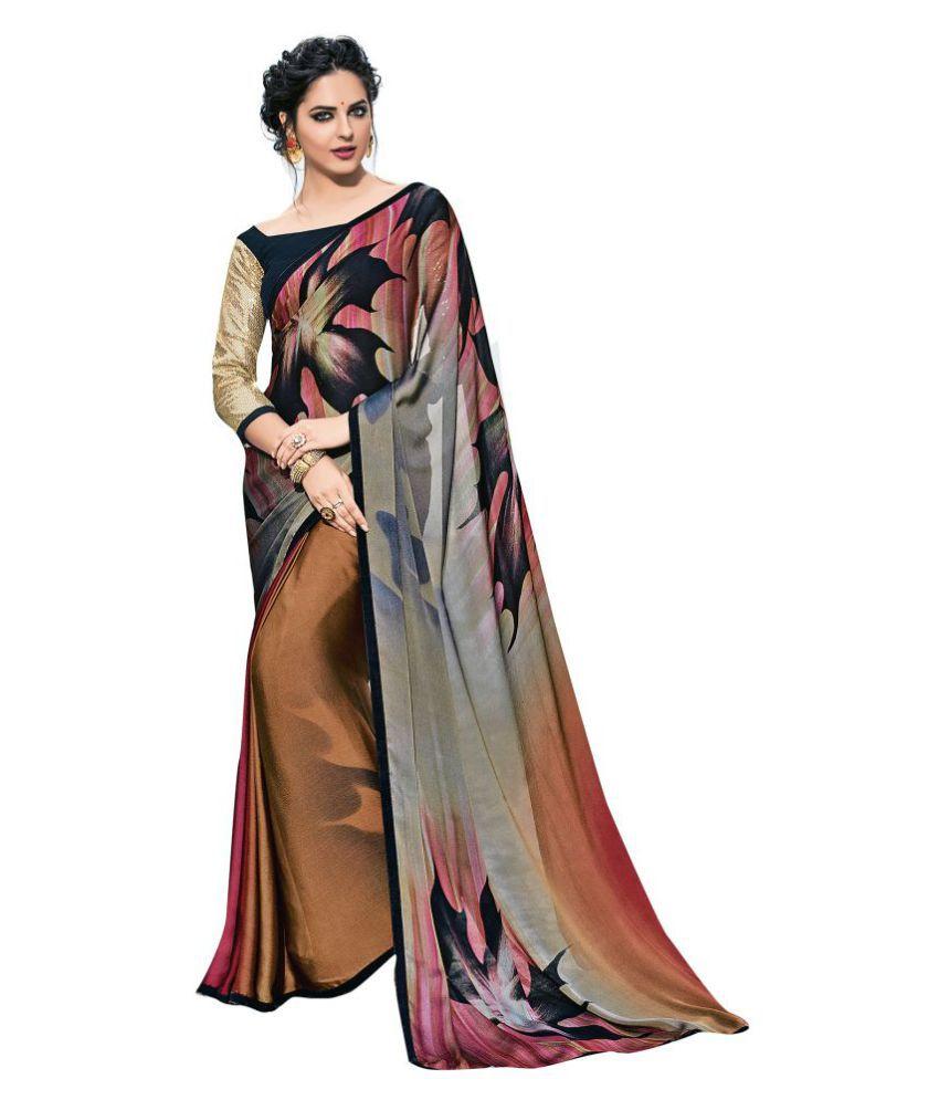 Shaily Retails Multicoloured Georgette Saree