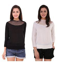 MDS Jeans Crepe Regular Tops