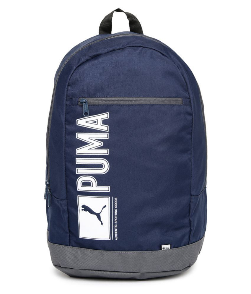 fc510eb73bf Puma Blue Pioneer Backpack - Buy Puma Blue Pioneer Backpack Online at Low  Price - Snapdeal
