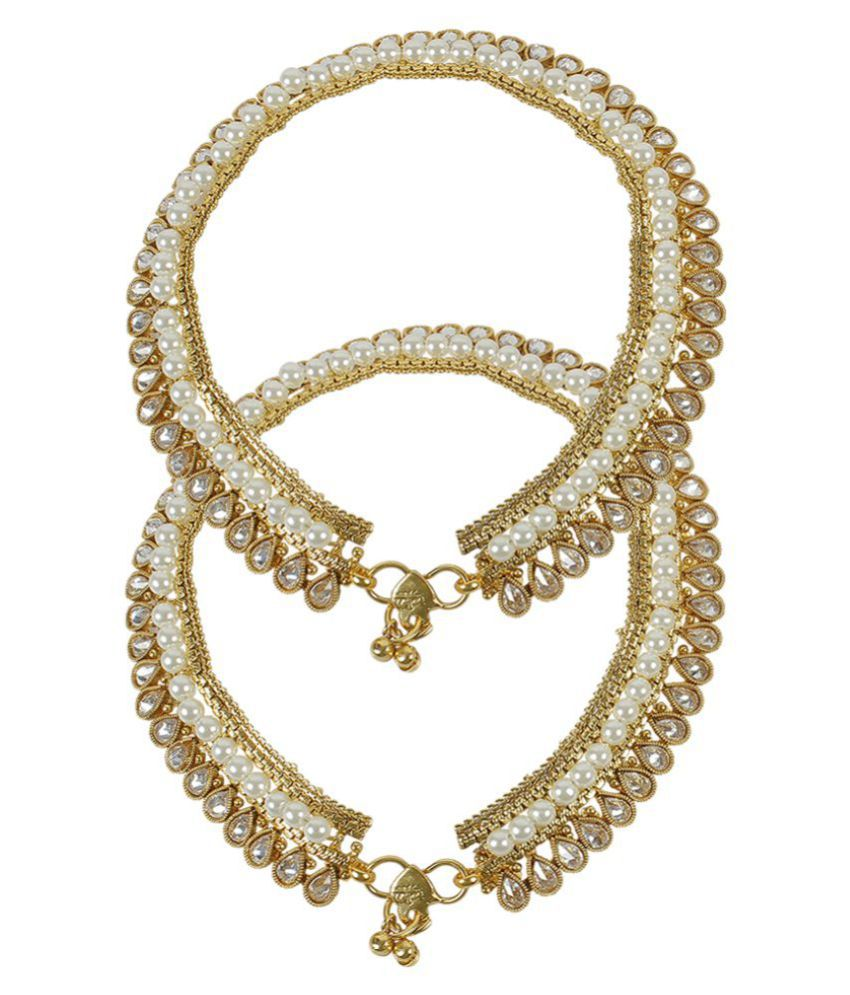 Much More Beautiful Unique Design & Pearl Work Royal Look Polki Payal for Women Wedding Jewelry