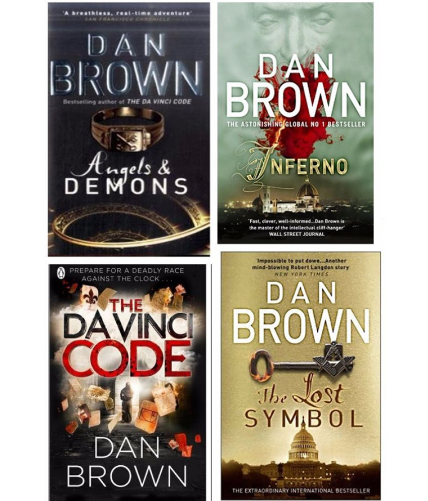 Dan Brown Book Combo Pack Inferno Lost Symbol Da Vinci Code