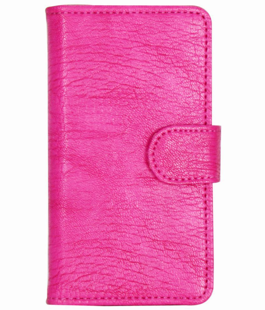 HTC One A9 Flip Cover by D.rD - Pink