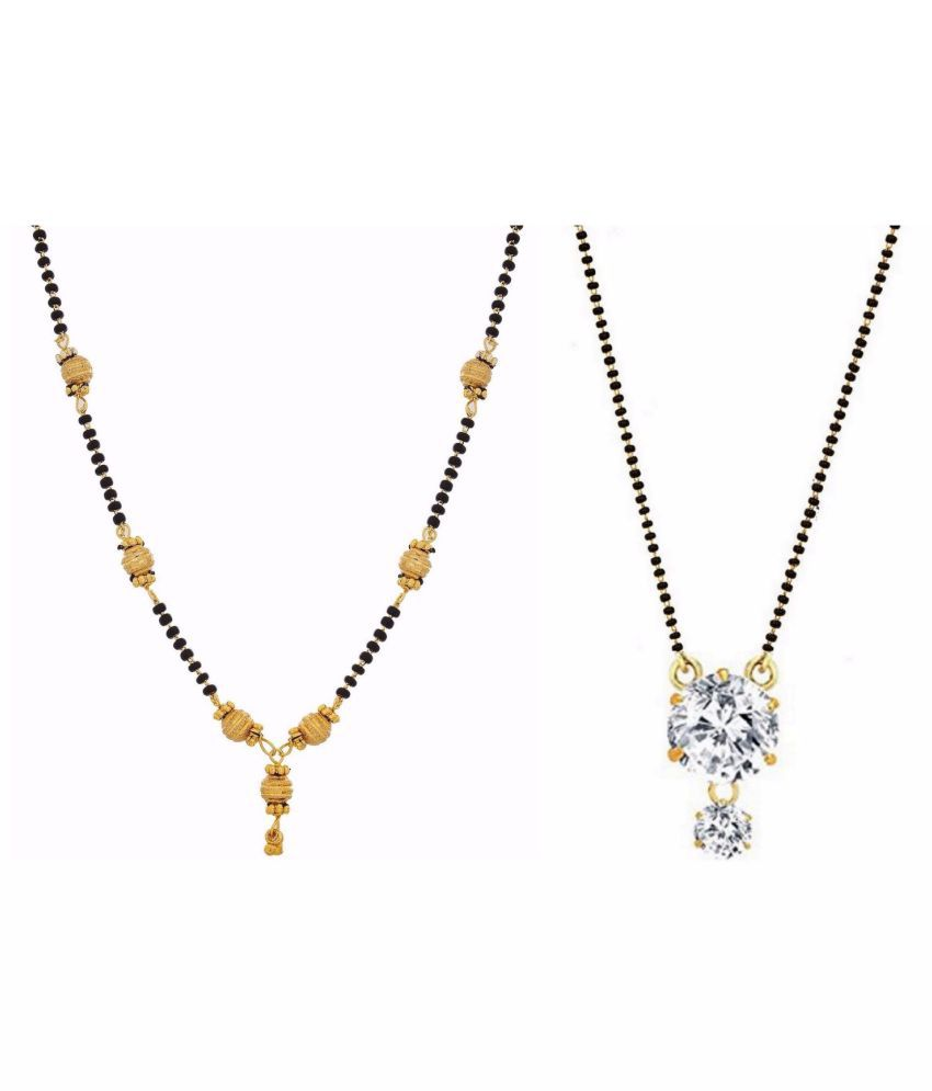 Archi Collection Jewellery Combo Designer Gold Plated Ethnic Mangalsutra for Women