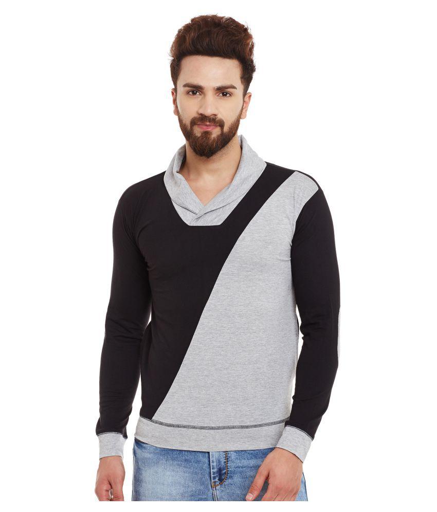 Hypernation Black V-Neck T-Shirt