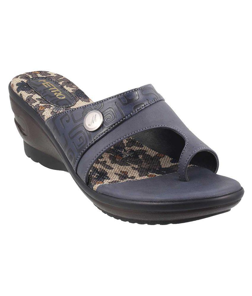 METRO BLUE Wedges Heels