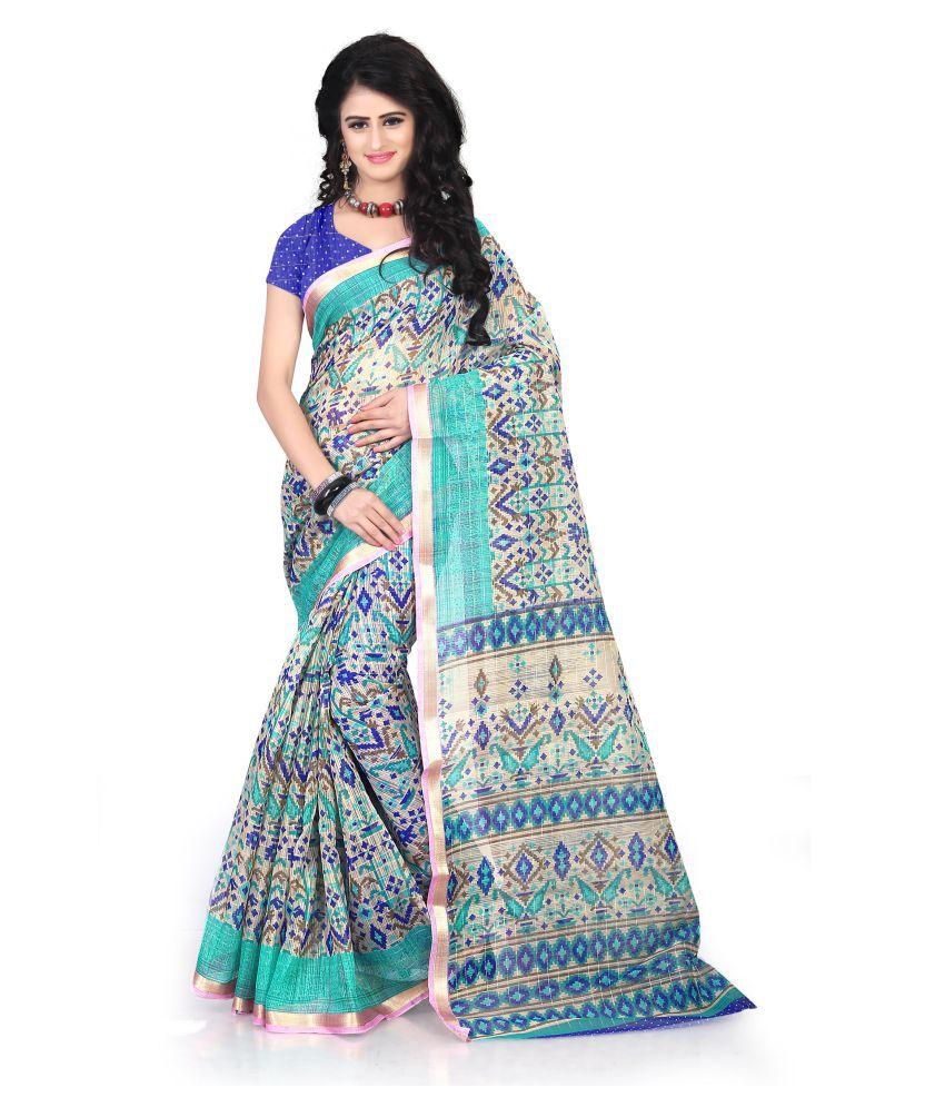 TRUNDZ Multicoloured Cotton Silk Saree
