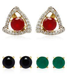 Penny Jewels Alloy Simple Designer Non-Precious Stylish Changeable Earrings Set For Women & Girls