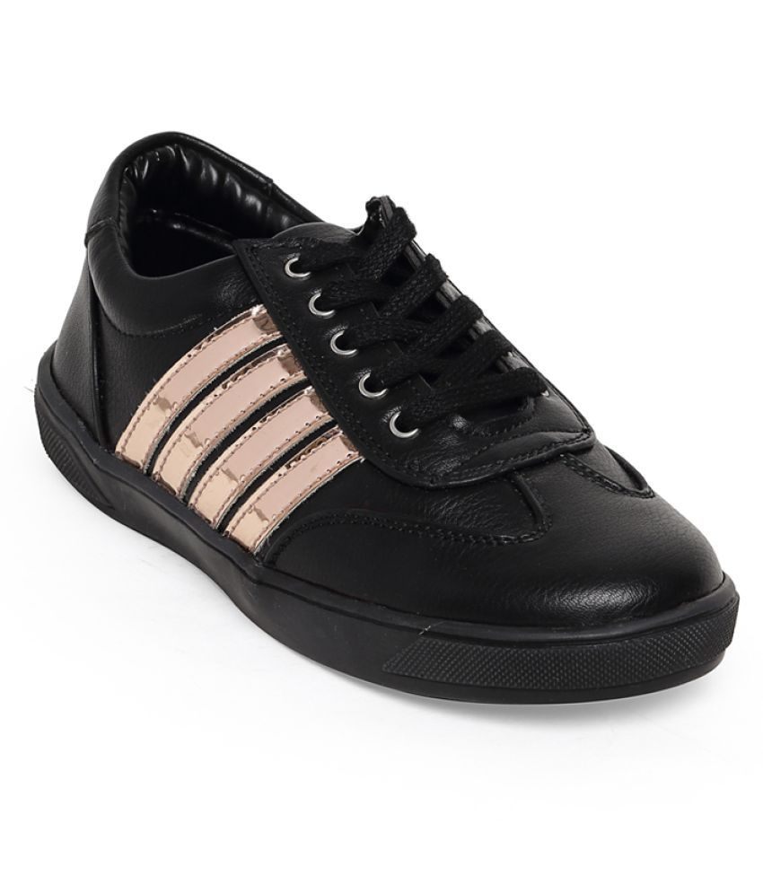 Bruno Manetti Unisex Kids Black Faux Leather Sneakers