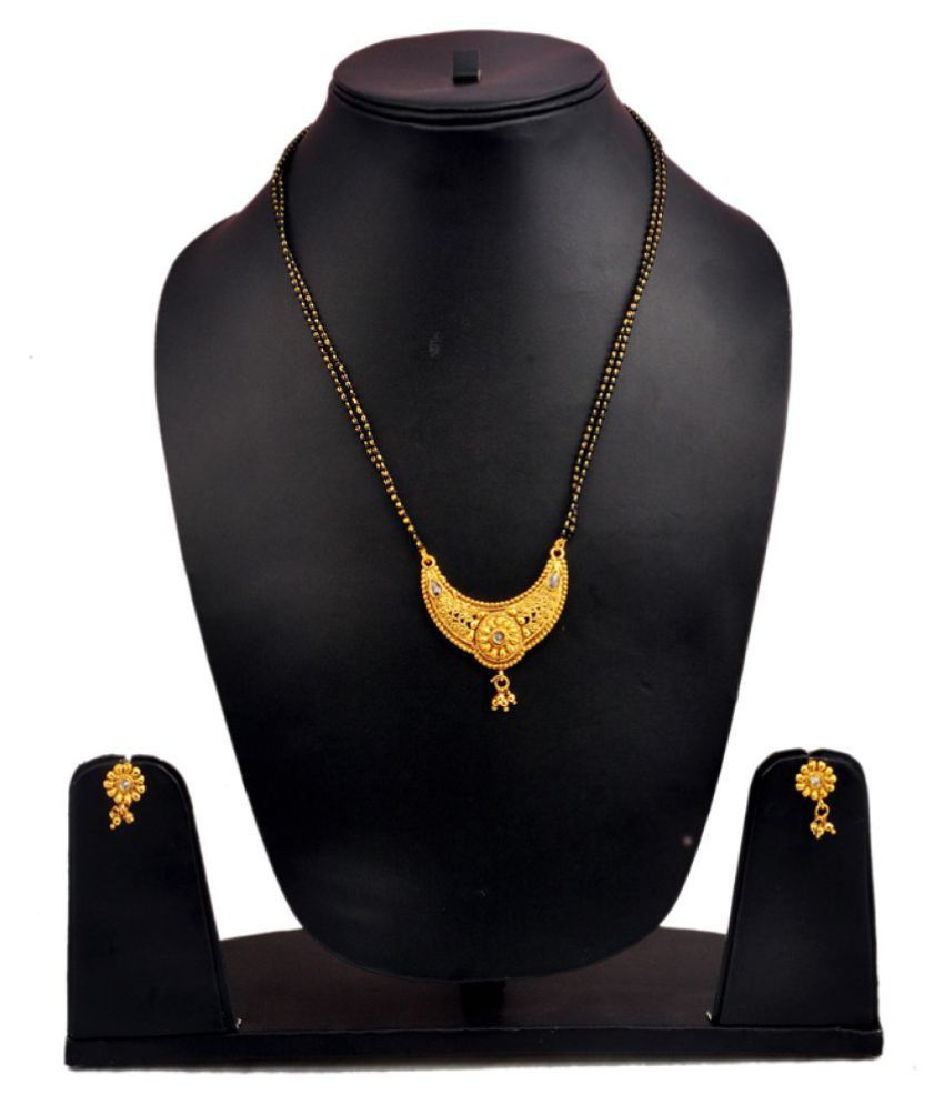 chrishan gold plated copper mangalsutra set for women