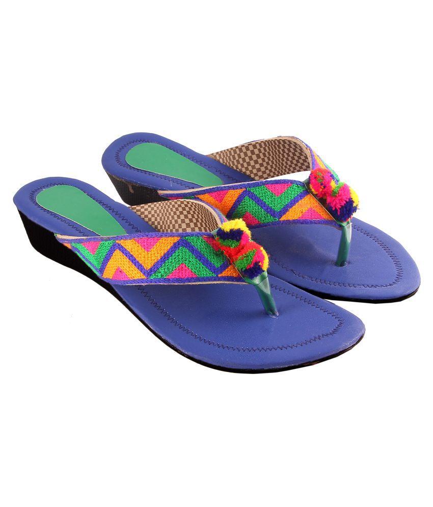 Mojari art and handicraft Multi Color Wedges Heels