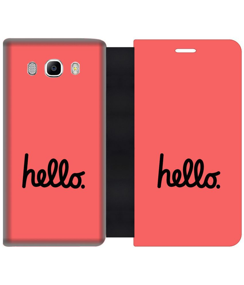 Samsung Galaxy On8 Flip Cover by Skintice - Pink