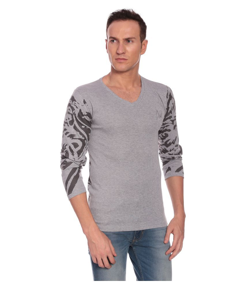 27Ashwood Grey V-Neck T-Shirt