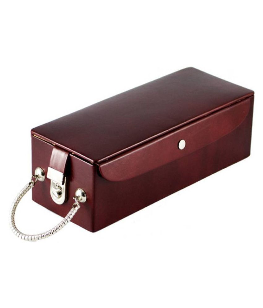 5 Tier Leather Jewellery Box Locker Box with lock and key