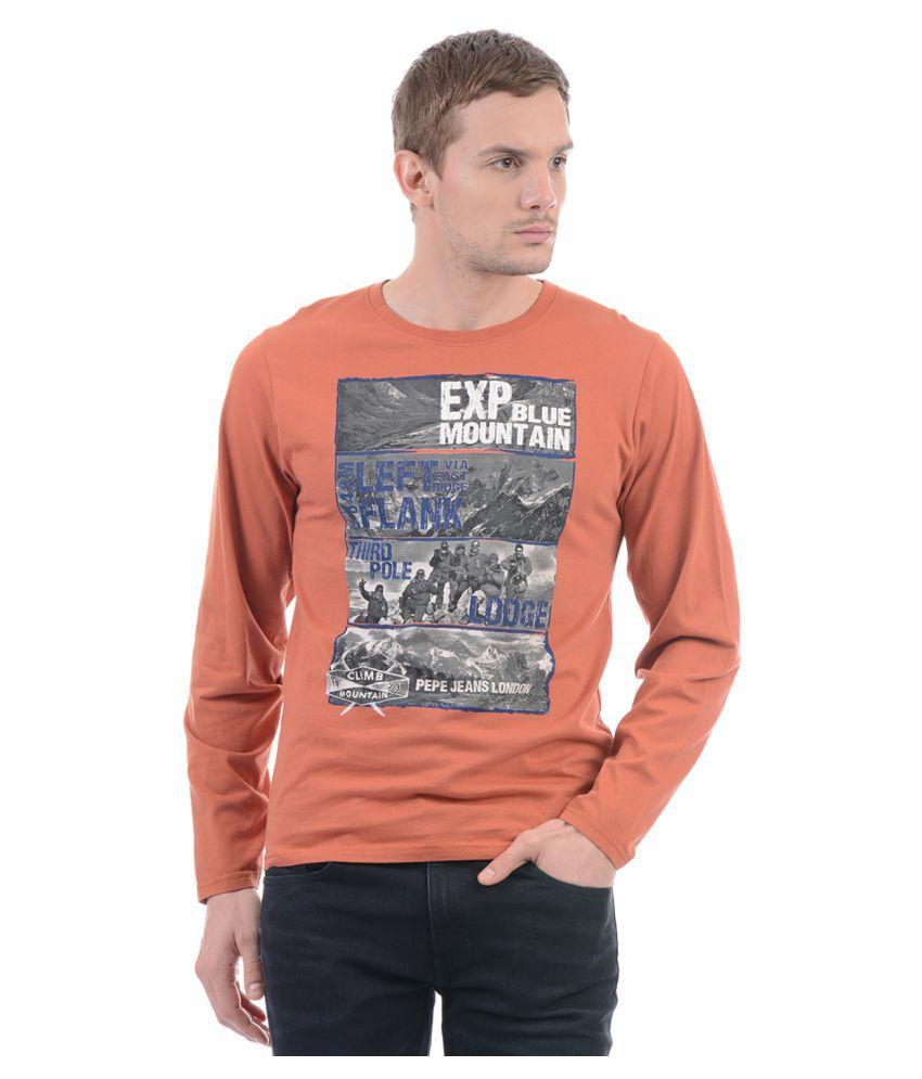 Pepe Jeans Orange Round T-Shirt