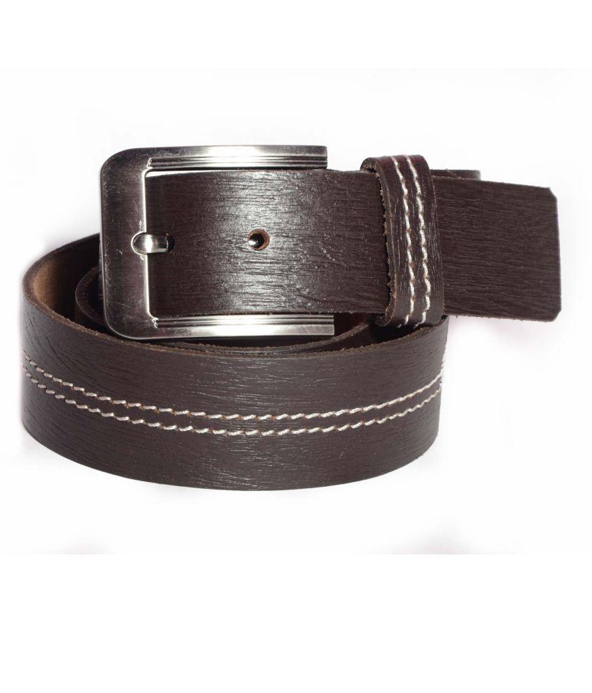 Aller Brown Leather Formal Belts