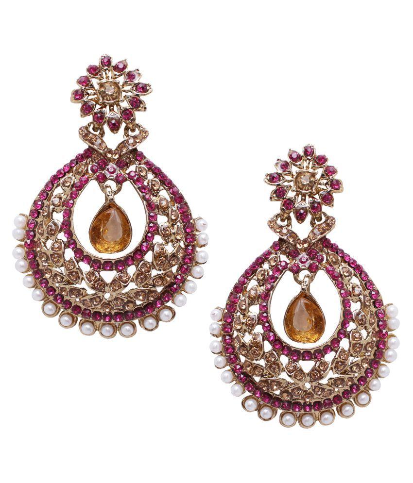Soni Art Ethnic indian bollywood fashion dangler earring (0248)