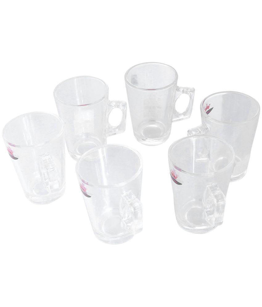 TRUENOW VENTURES Pvt.Ltd Glass Coffee Mug 6 Pcs 150 ml