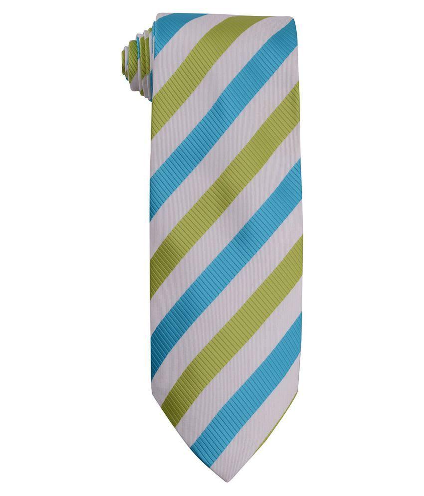 Bharat Intr Multi Stripes Polyester Necktie