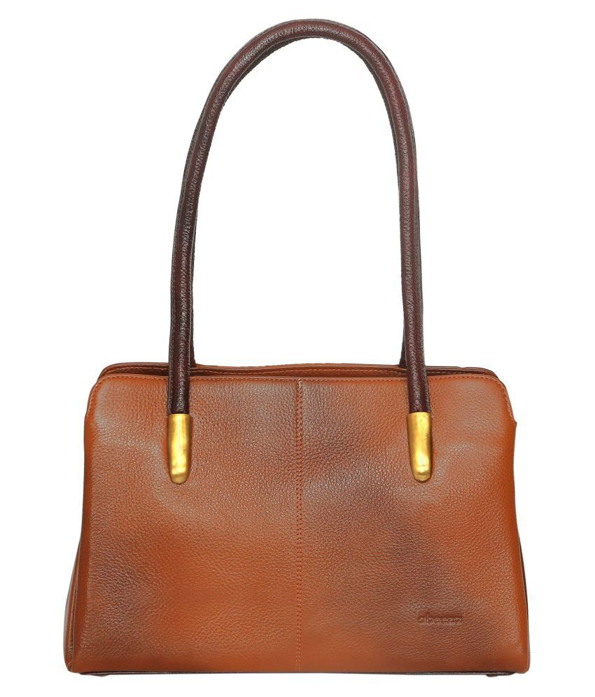 Abeeza Tan Pure Leather Handbags Accessories