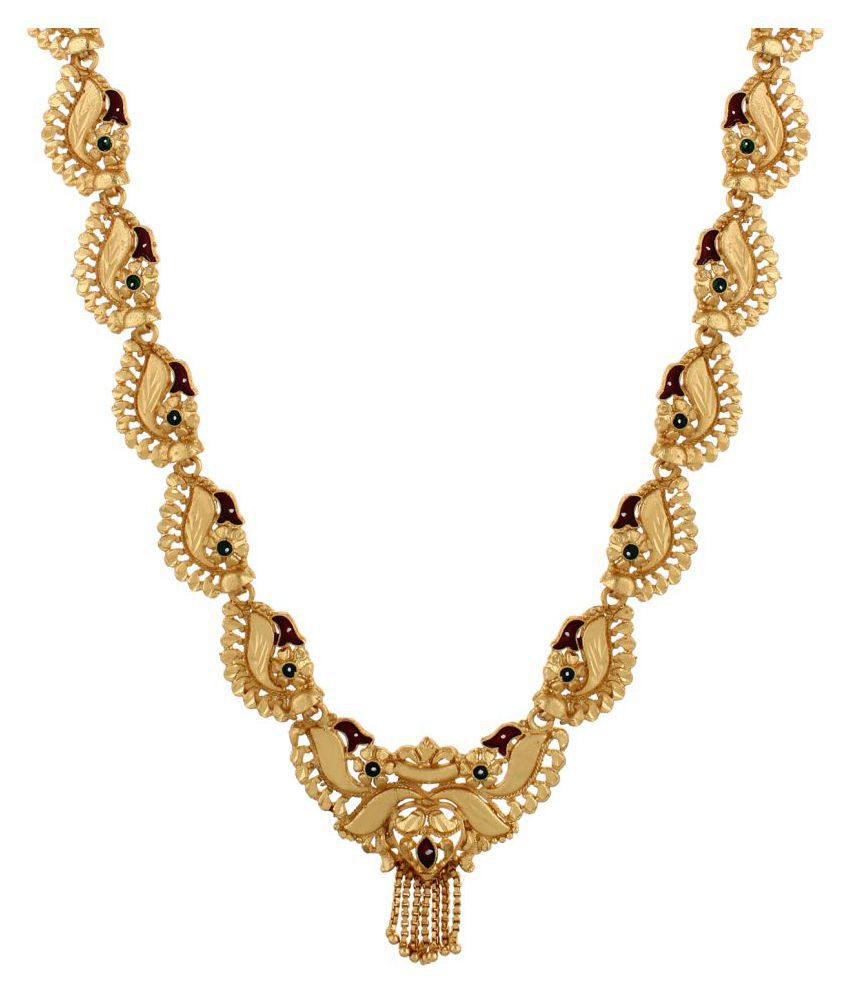 ... Ethnic Traditional Gold Plated Goldplated Fashion Jewelry Jewellery Necklace With Enamel Beauty For Women India ...