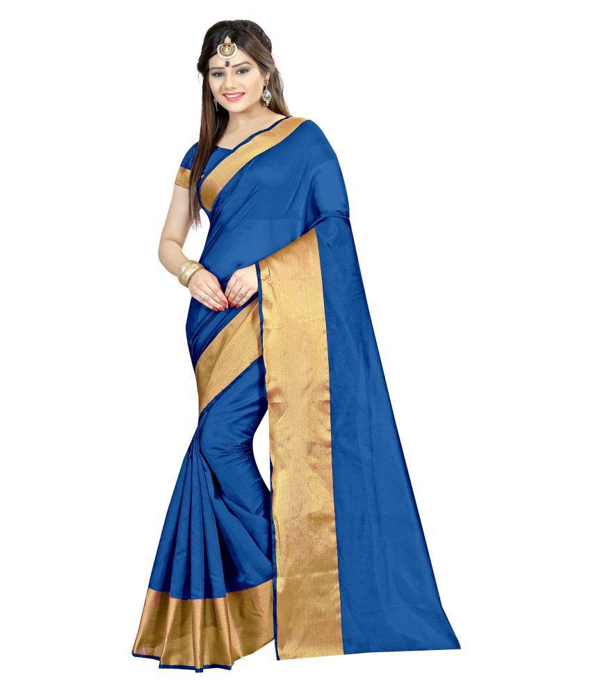 Shailaja Sarees Turquoise Cotton Saree