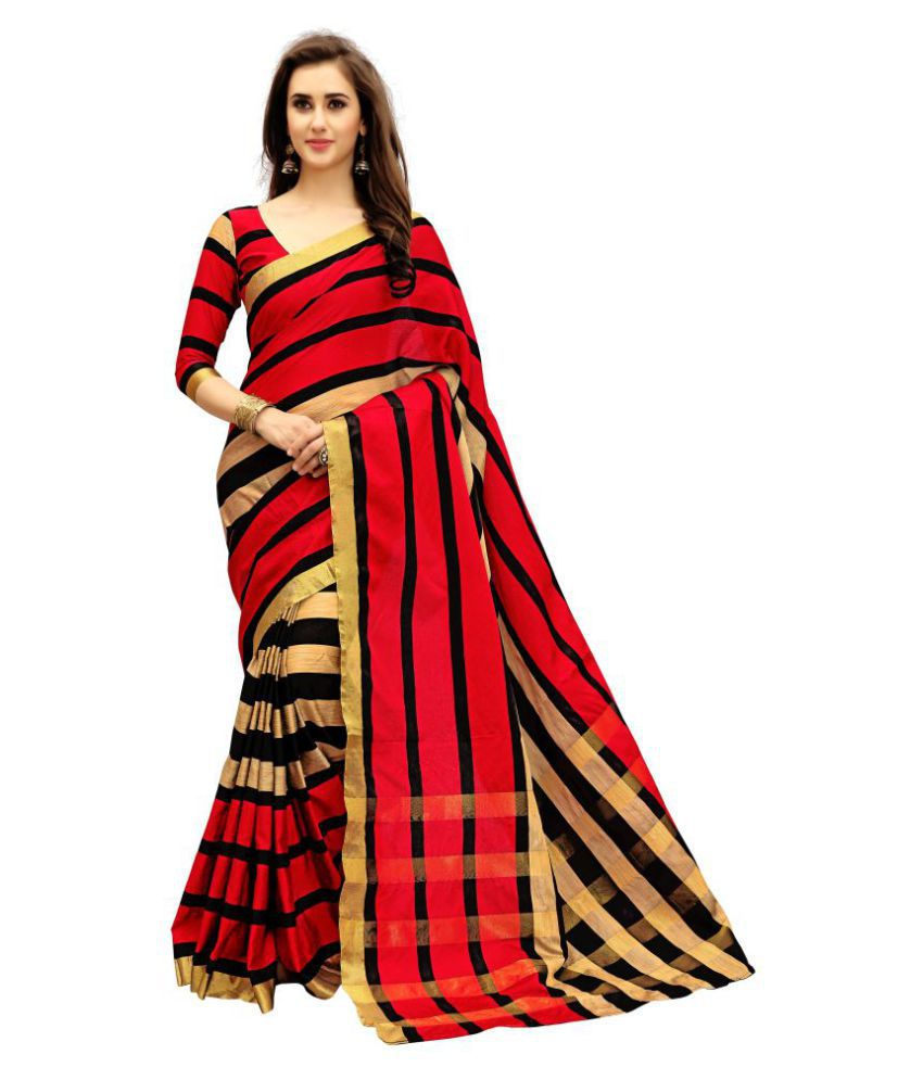 b75c5f9ada3 Dressy Red and Brown Chanderi Saree - Buy Dressy Red and Brown Chanderi  Saree Online at Low Price - Snapdeal.com