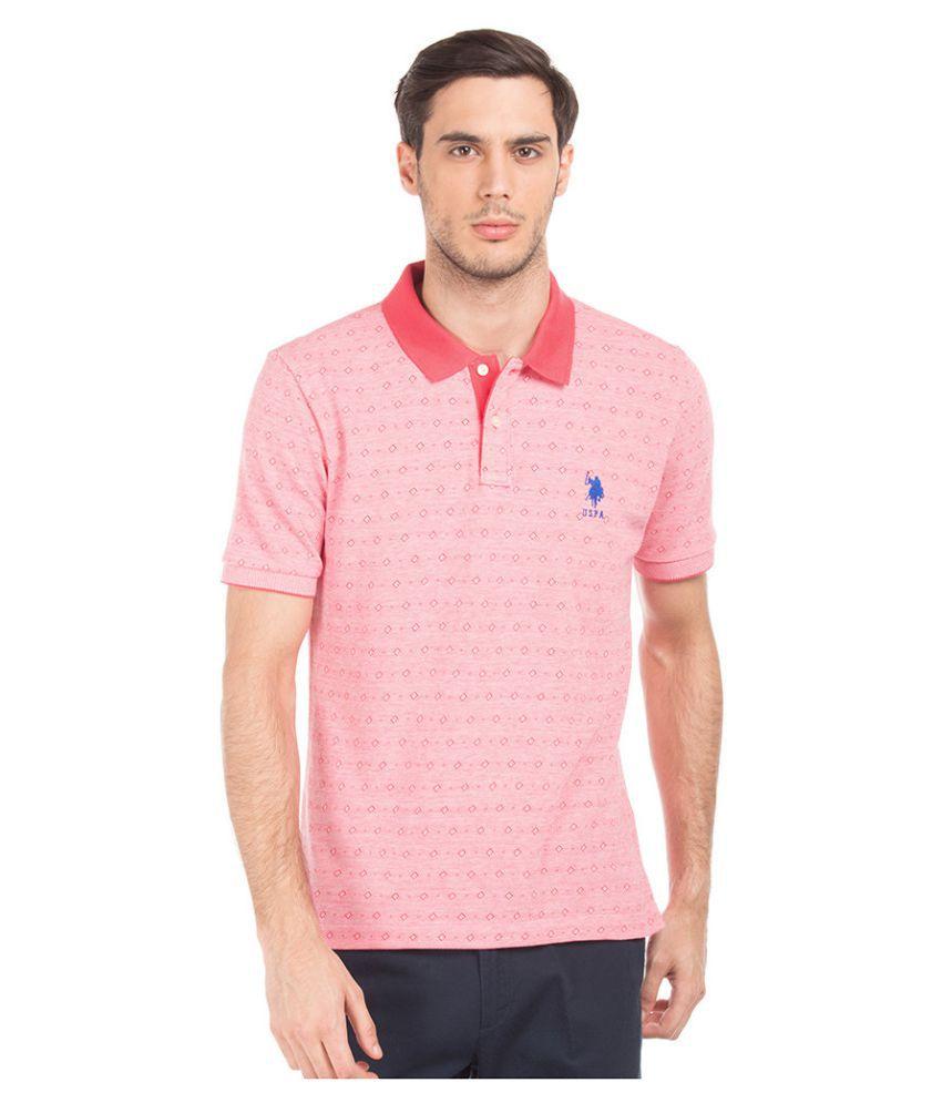 U.S. Polo Assn. Pink Round T-Shirt