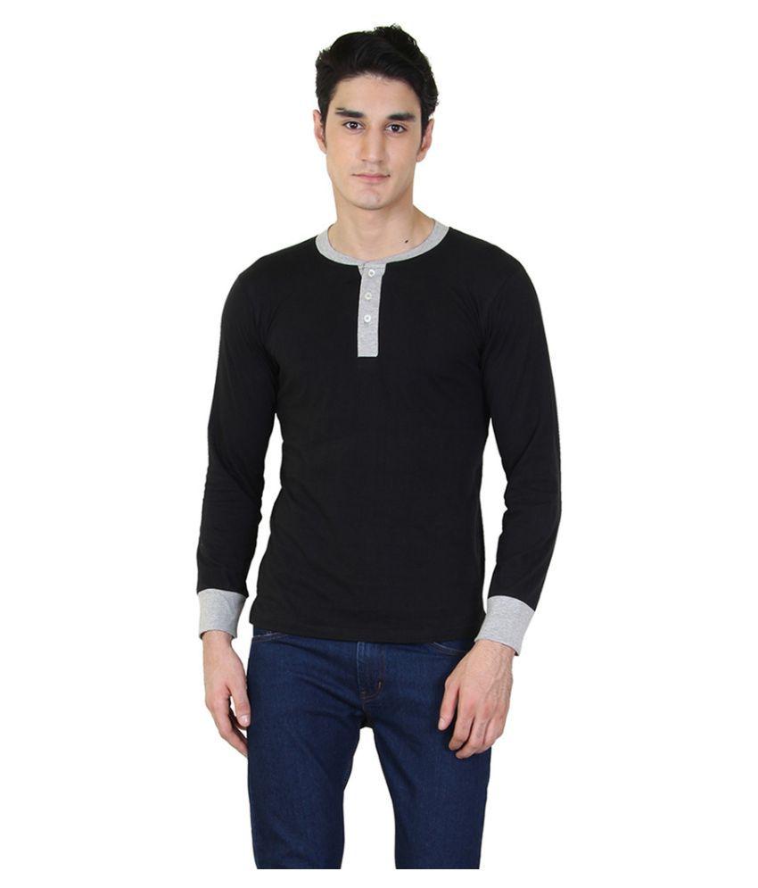 COCINA Black Henley T-Shirt Pack of 2