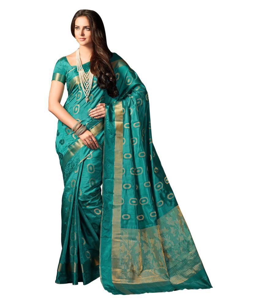 M.S.Retail Blue Silk Saree