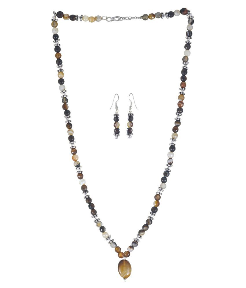 Rejewel Modern Red Semi Precious Stone Necklace set