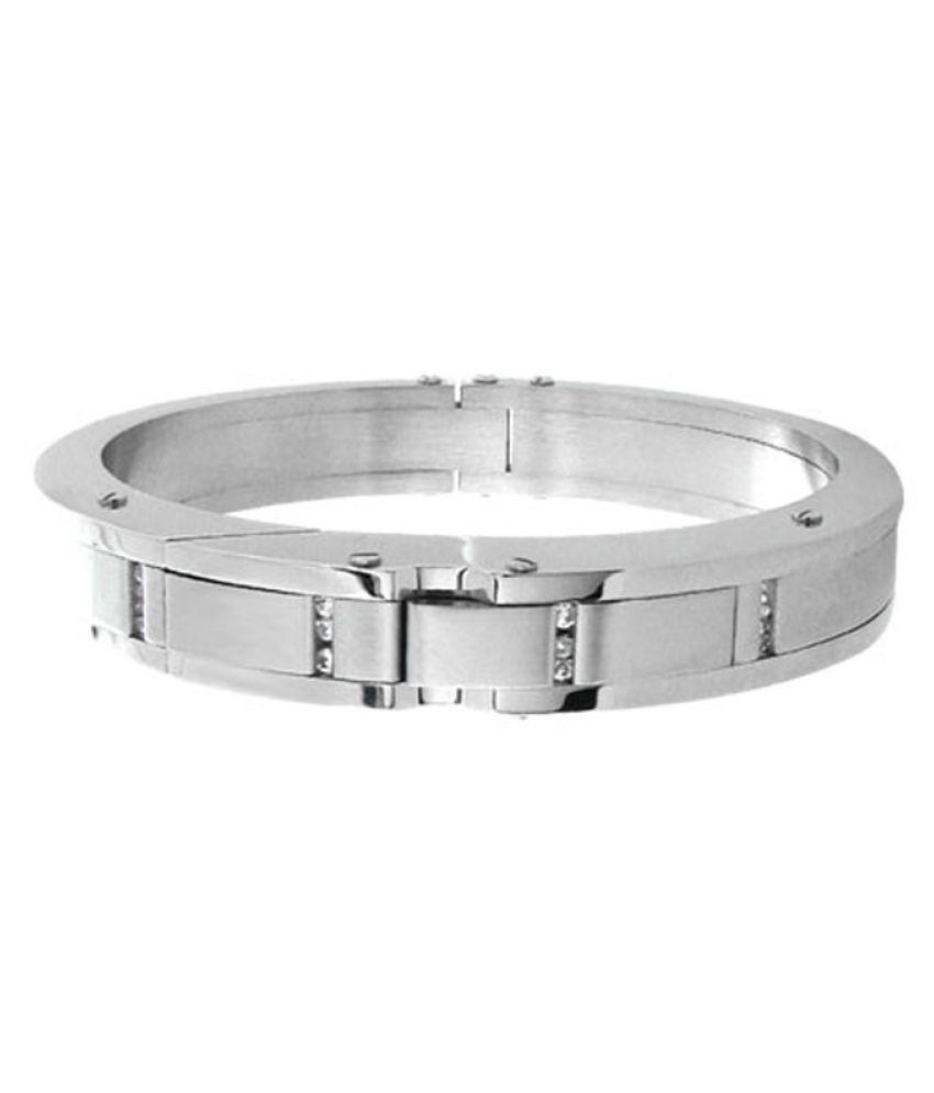 Inox Jewelry Silver Stainless Steel Bracelet