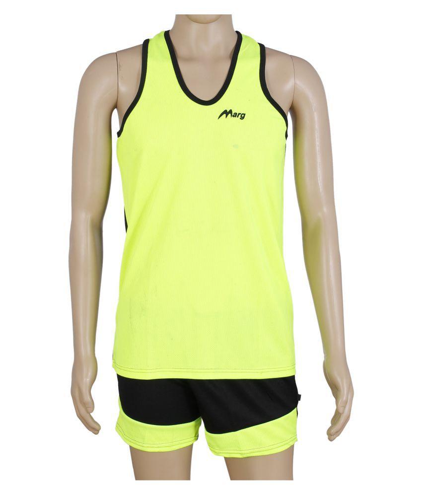 RetailWorld Yellow Polyester T-Shirt Single Pack