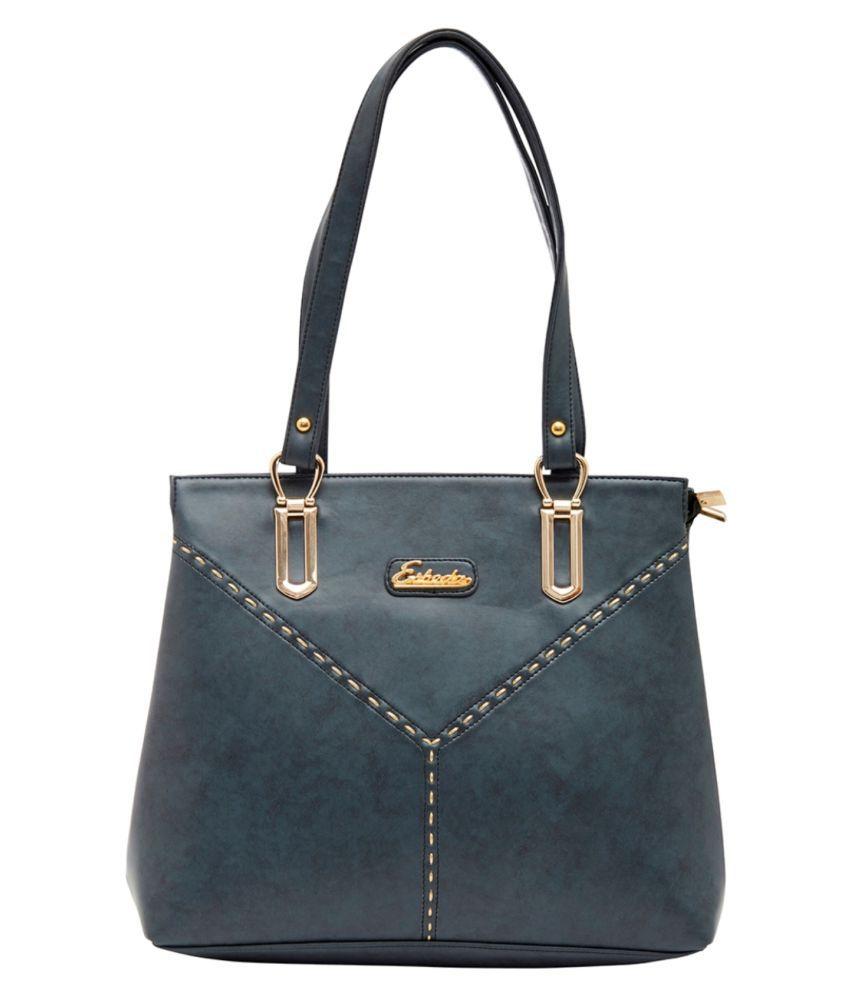 Esbeda Blue P.U. Shoulder Bag
