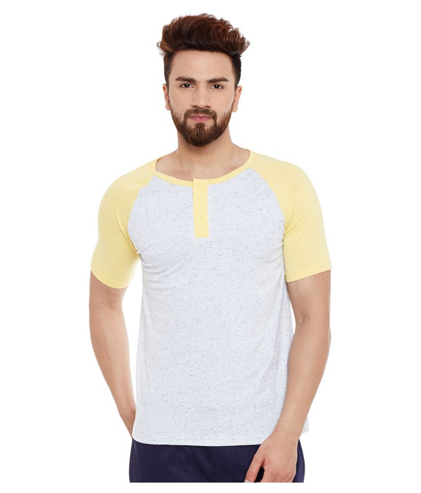 The Dry State Yellow Henley T-Shirt