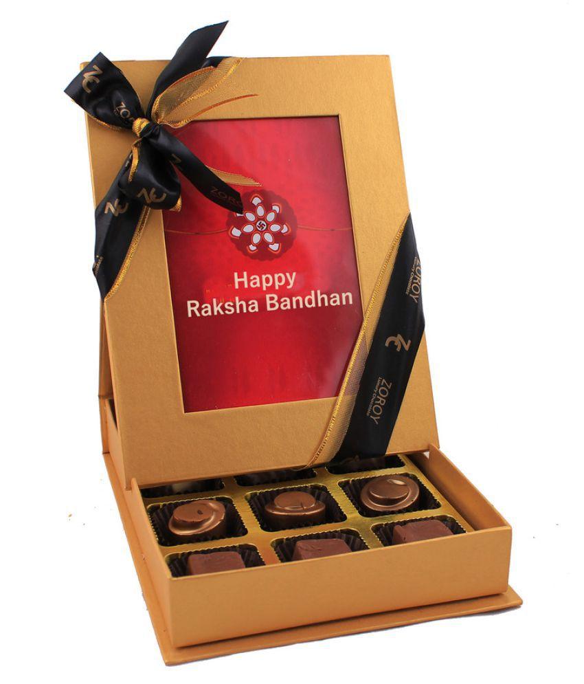 Zoroy Luxury Chocolate Assorted Chocolate Box Rakhi and Rakshabandhan Chocolate Gift 200 gm