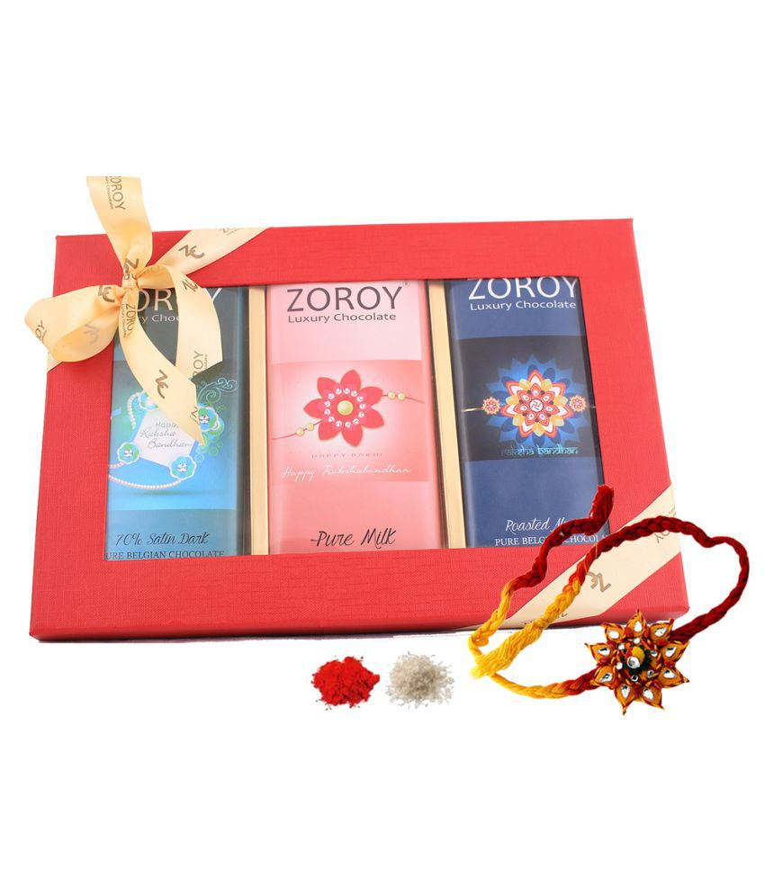 Zoroy Luxury Chocolate Assorted Chocolate Box Rakhi and Rakshabandhan Chocolate Gift 800 gm