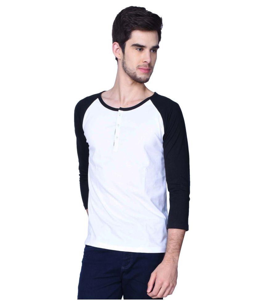 GliZt White Henley T-Shirt