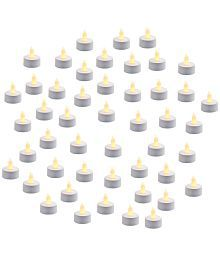 Home Shop Retails LED Tea Light Candles(Pack Of 48) LED T-lite Yellow - Pack Of 48