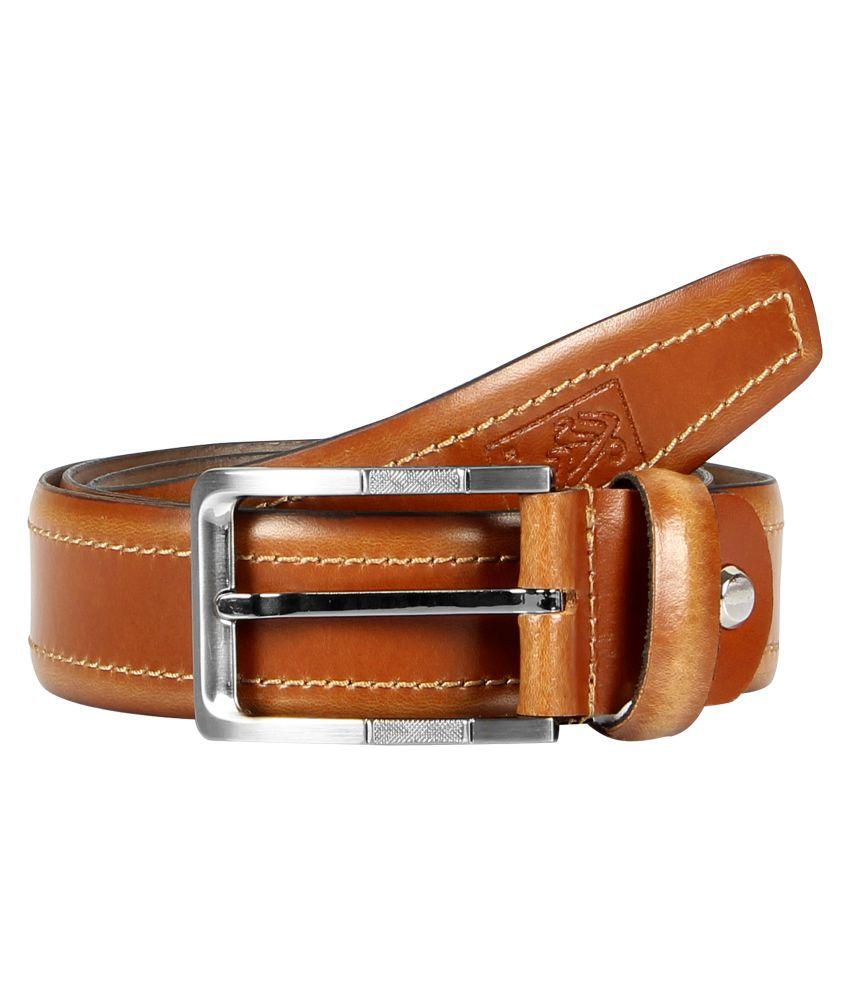 Milesroad Brown Leather Formal Belts