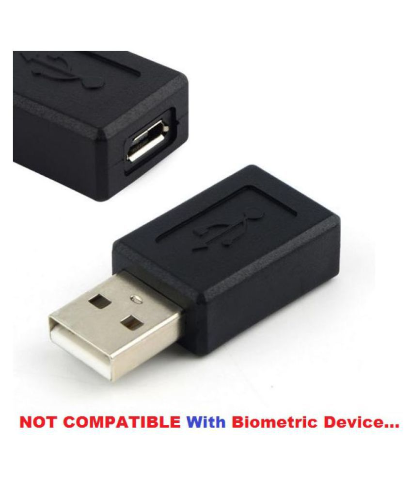 USB Female A to Micro USB 5 Pin Male B Connector Adapter Converter Black