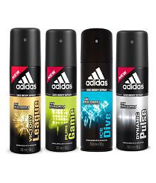 Adidas Victory League, Pure Game, Ice Dive, Dynamic Plus Deodorants Pack of 4