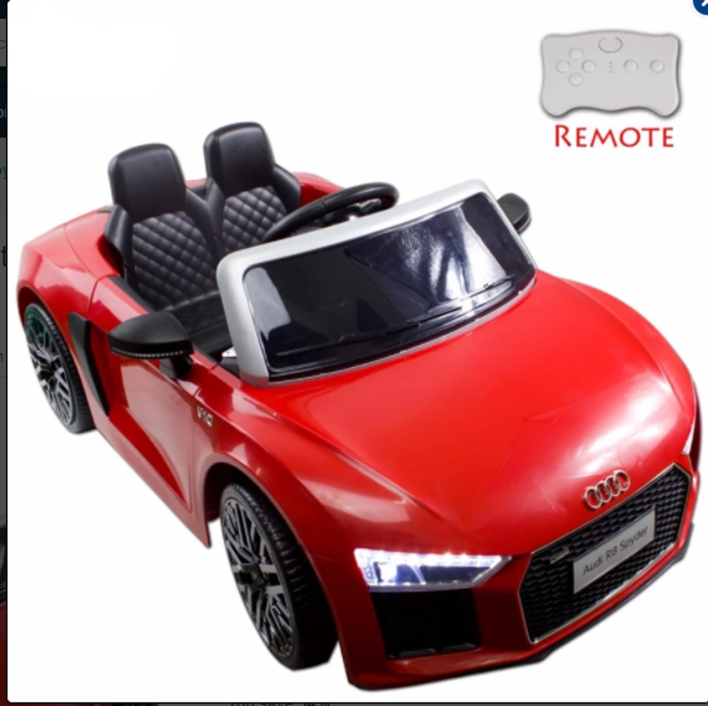 Audi R8 Battery: GetBest Battery Operated Audi R8 Spyder Licensed Ride On