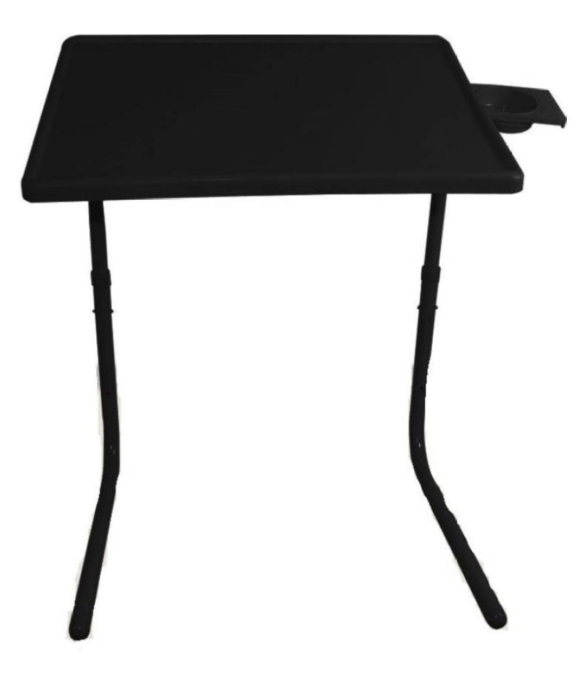 Ibs Adjustable Folding Kids Mate Home Office Reading Writing Study Black  Tablemate With Cupholder Plastic Portable Laptop Table (finish Color   Black)