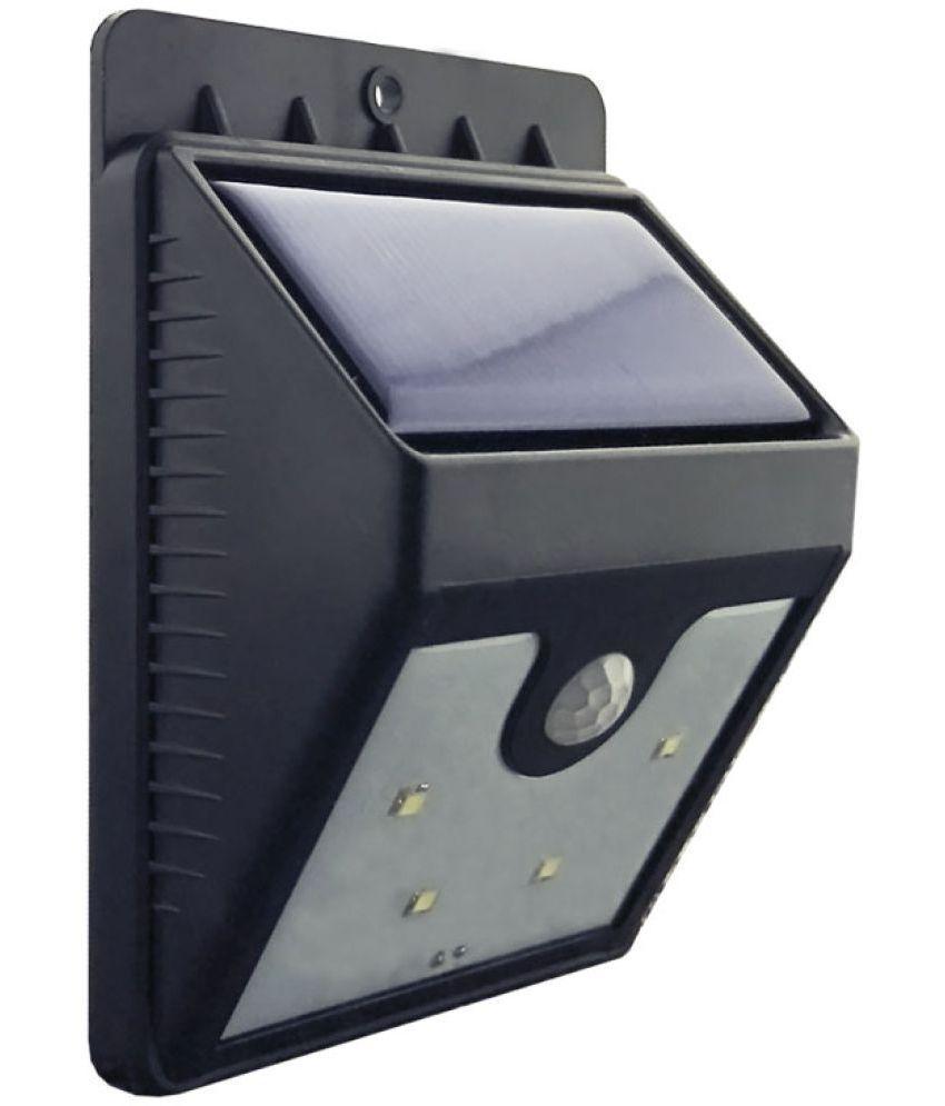 Insasta Ever Brite Outdoor Motion Activated Sensor Solar Power LED Light  Motion Sensor Light Black ...