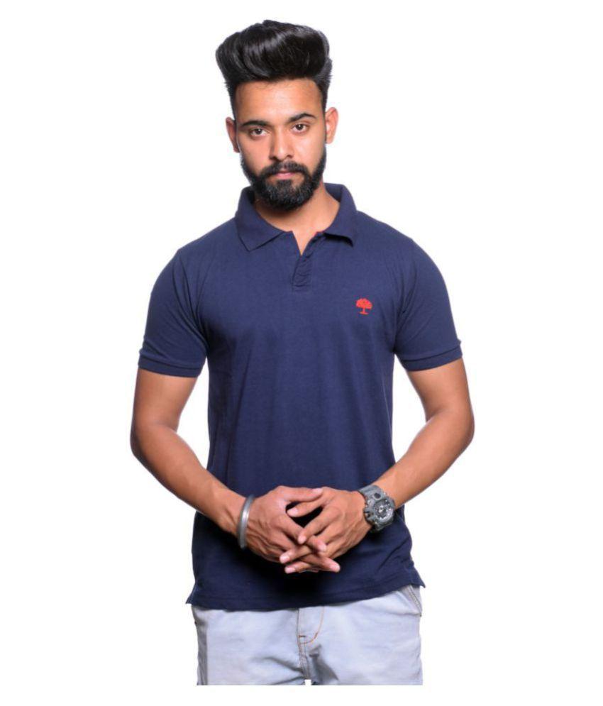 ARBOUR CLOTHING CO Black Cotton Polo T-Shirt
