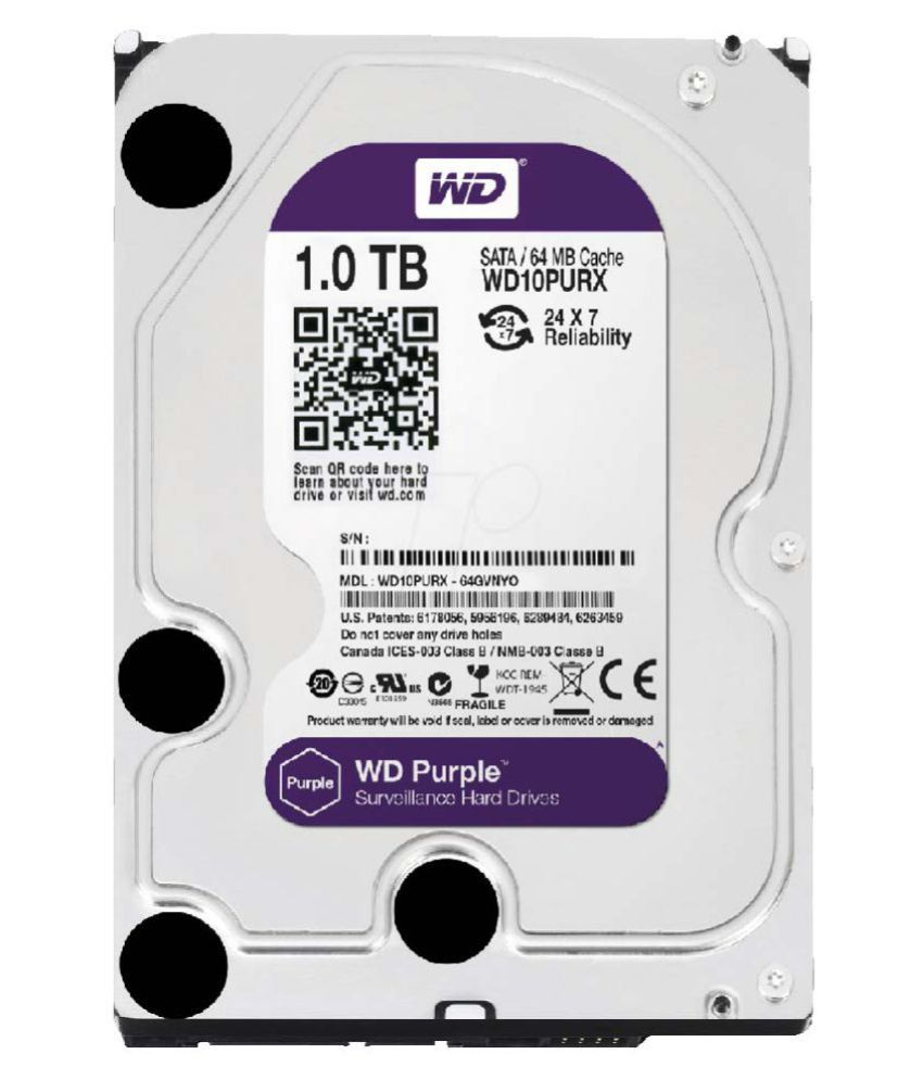 WD WD10PURX 1 TB Internal Hard Drive Internal Hard drive