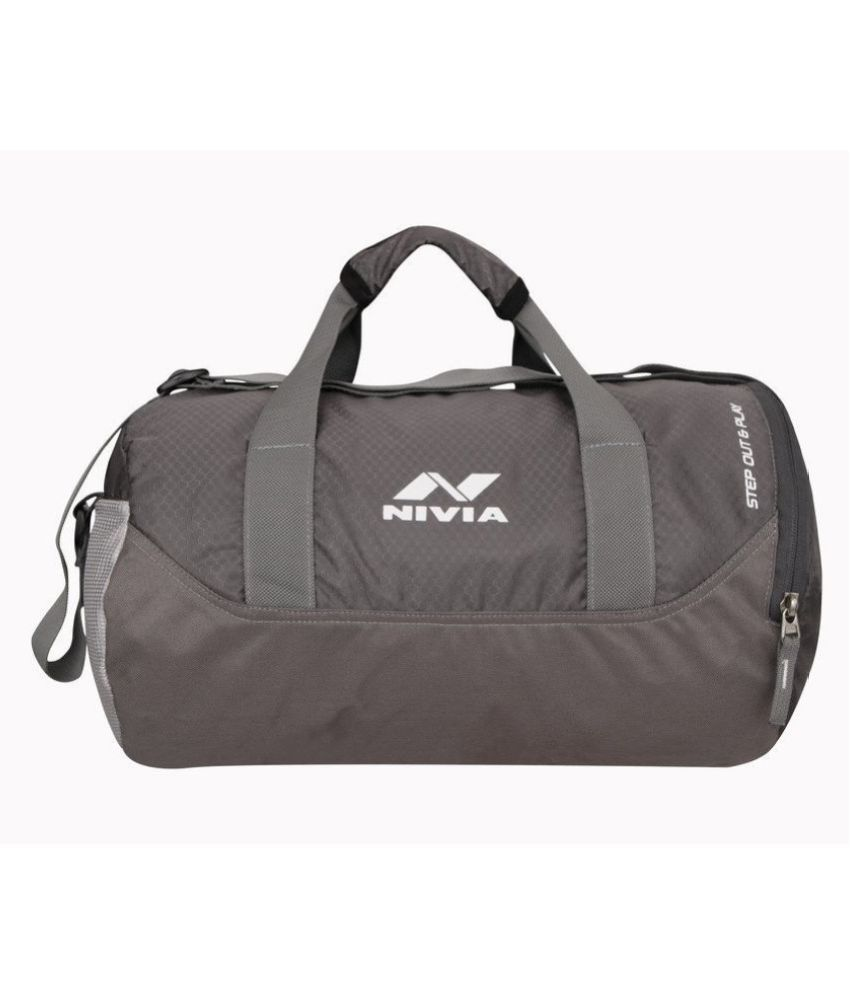 Nivia Grey Small PolyesterGym Bags Travel Bag Travel Luggage Cross Bag Side Bag Shoulder Bag For Men & Women