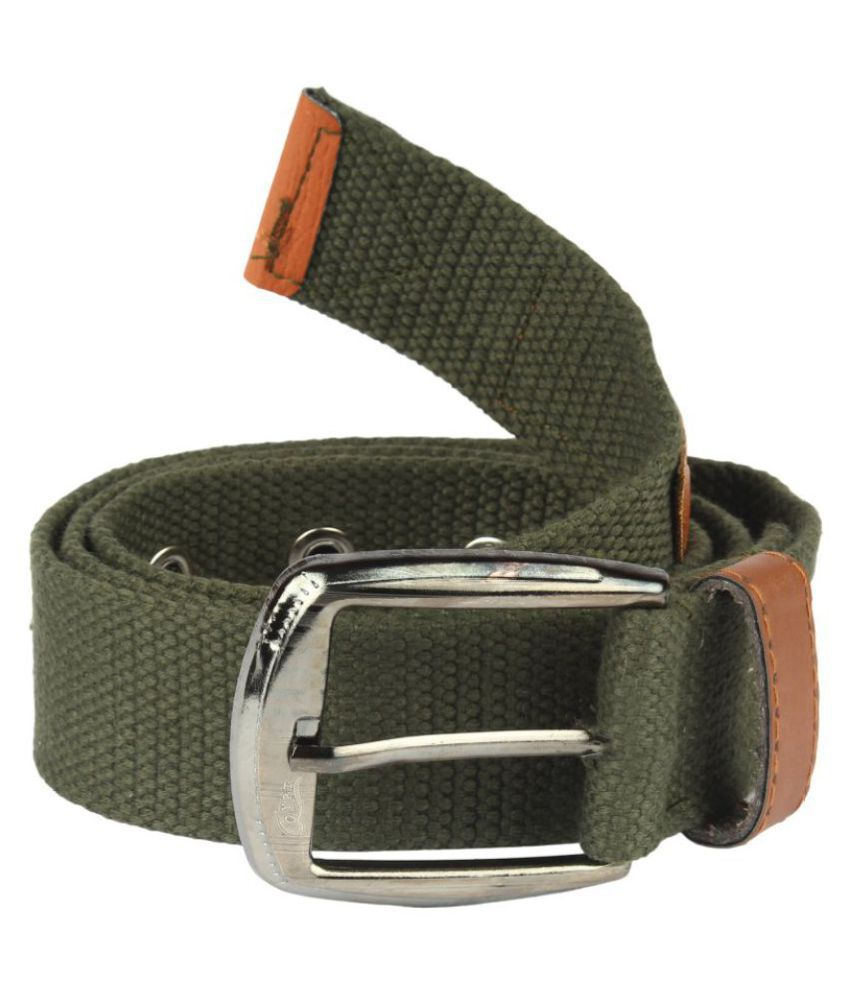 Arip Green Faux Leather Casual Belts
