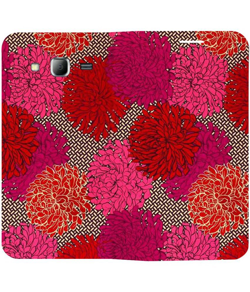 Samsung Galaxy J7 Flip Cover by Snooky - Red